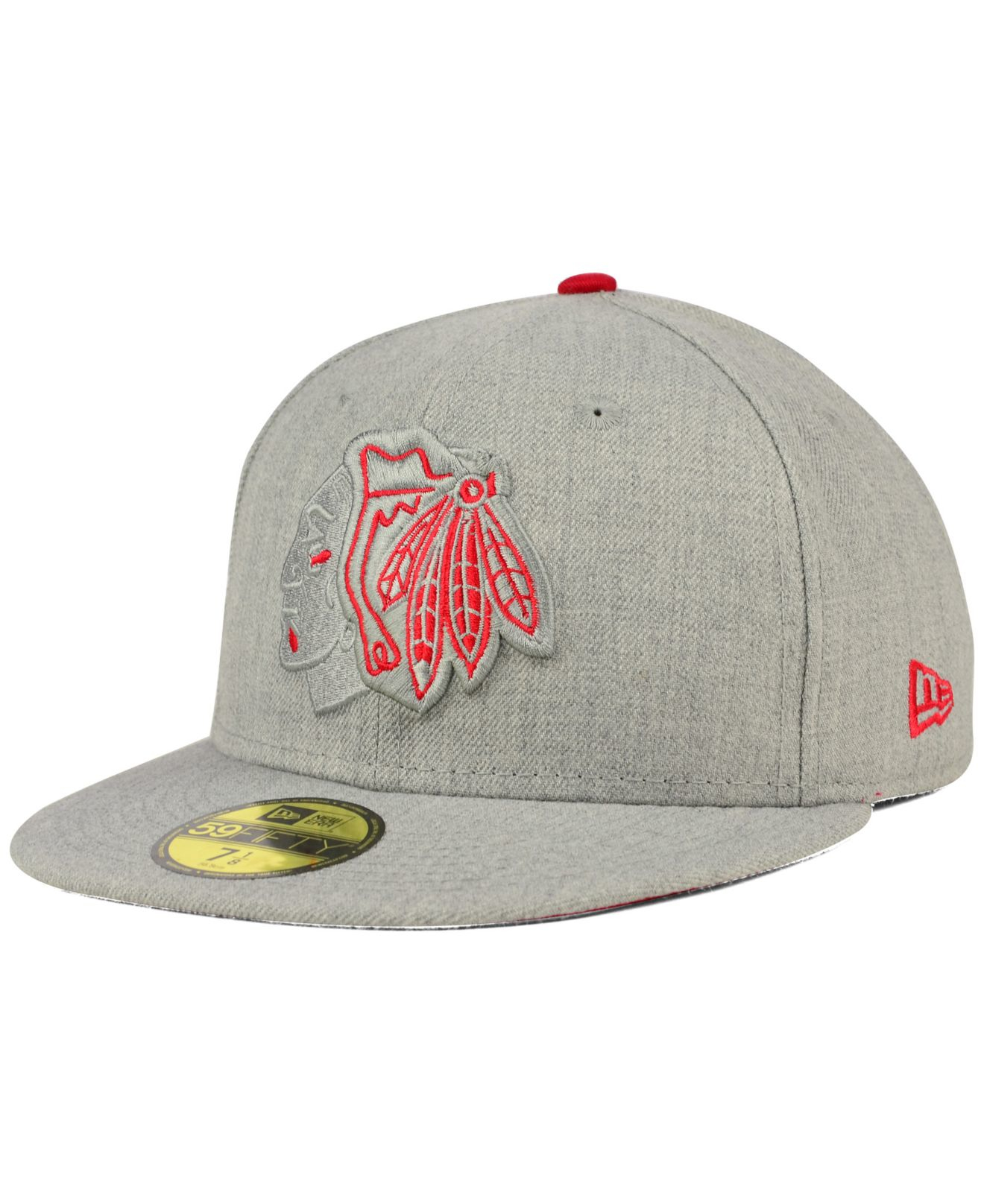 Lyst - KTZ Chicago Blackhawks Heather League Basic 59fifty Cap in ... 09e6ed28af73