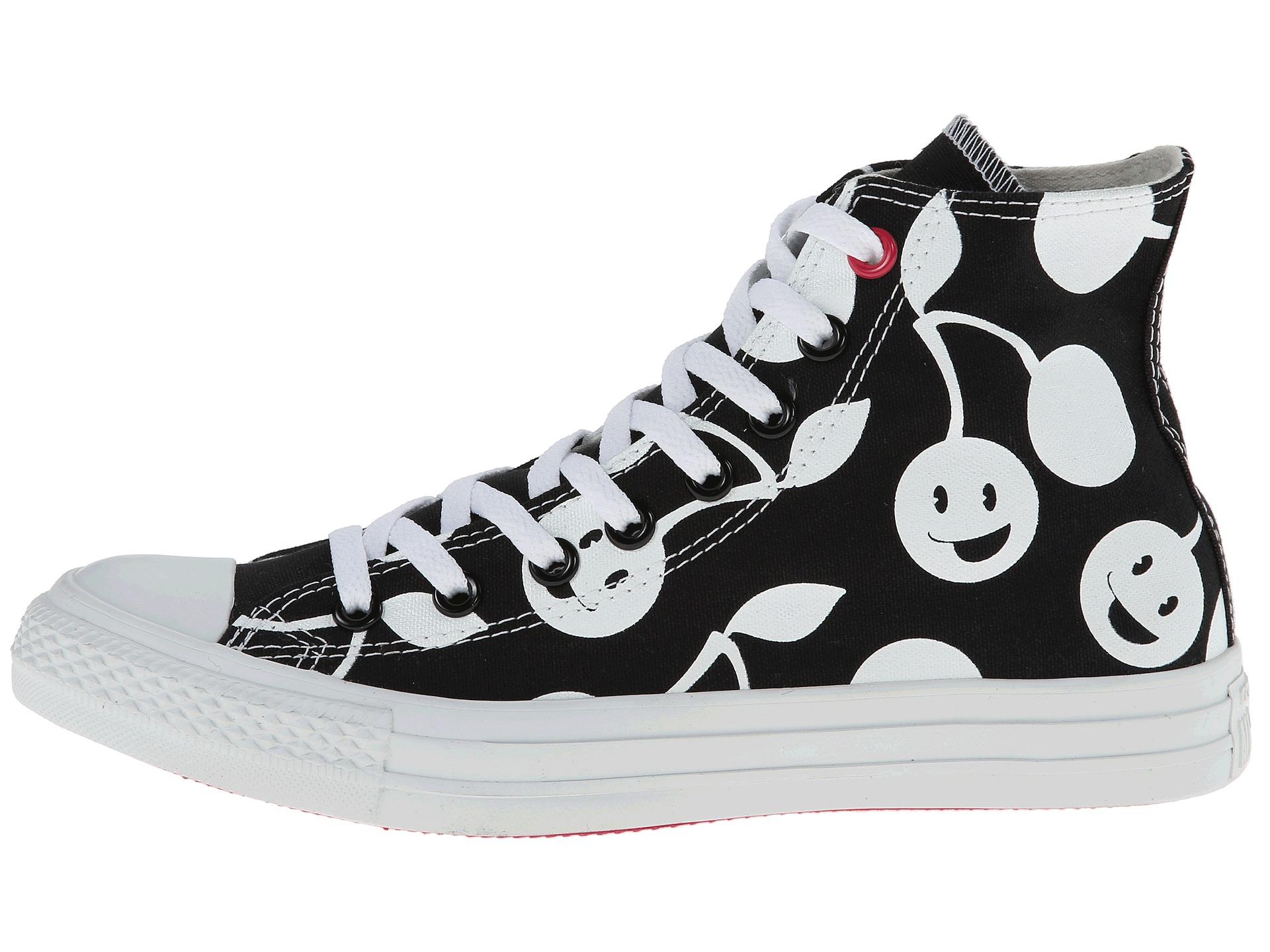 Converse Chuck Taylor® All Star® Cherry Print Hi in Black/White ...