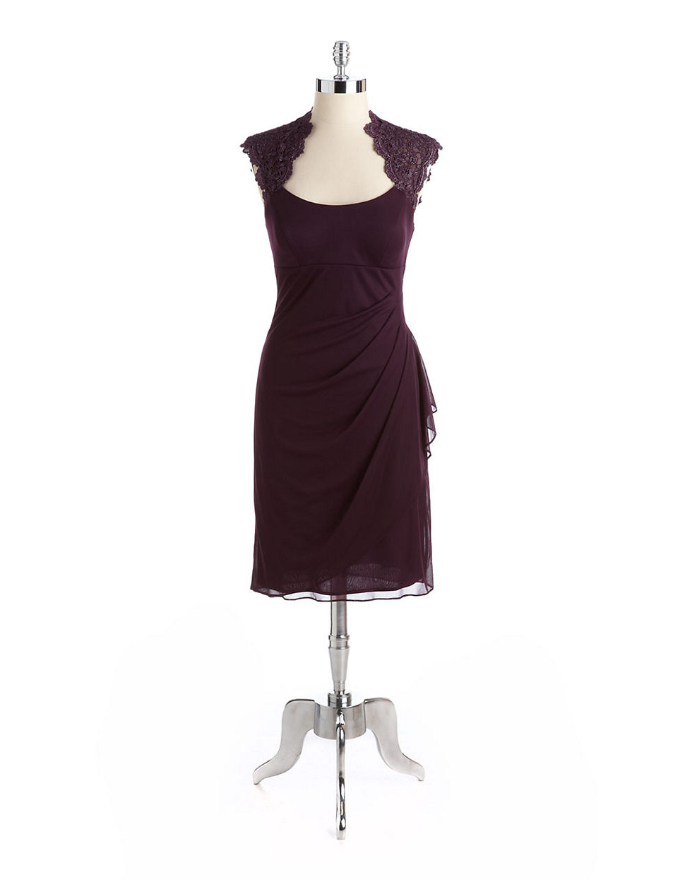 purple cocktail dresses lord and taylor plus size
