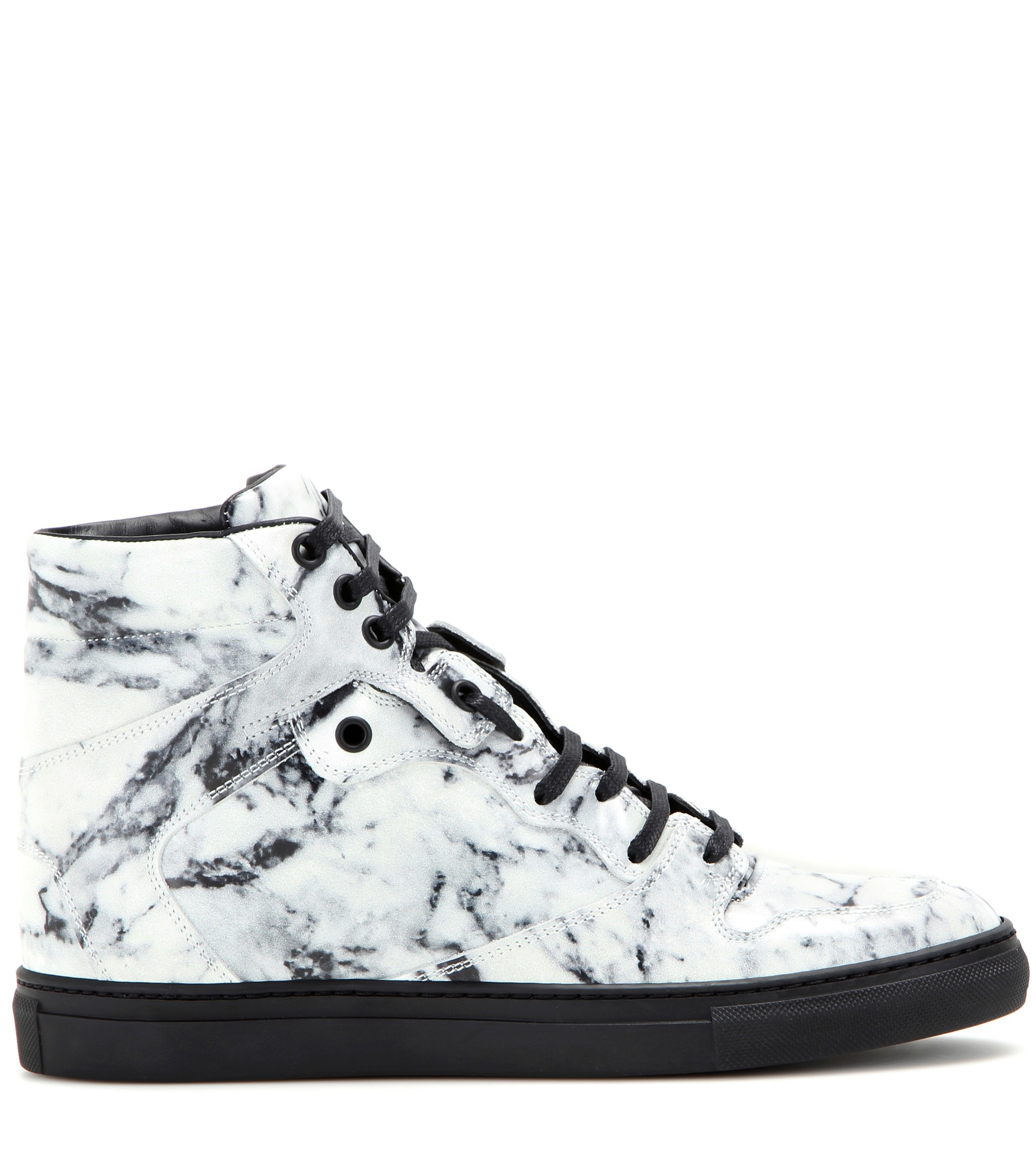 Balenciaga Leather-Trimmed High Top Sneakers cheap sale get to buy sale 100% authentic IRGvgscFF