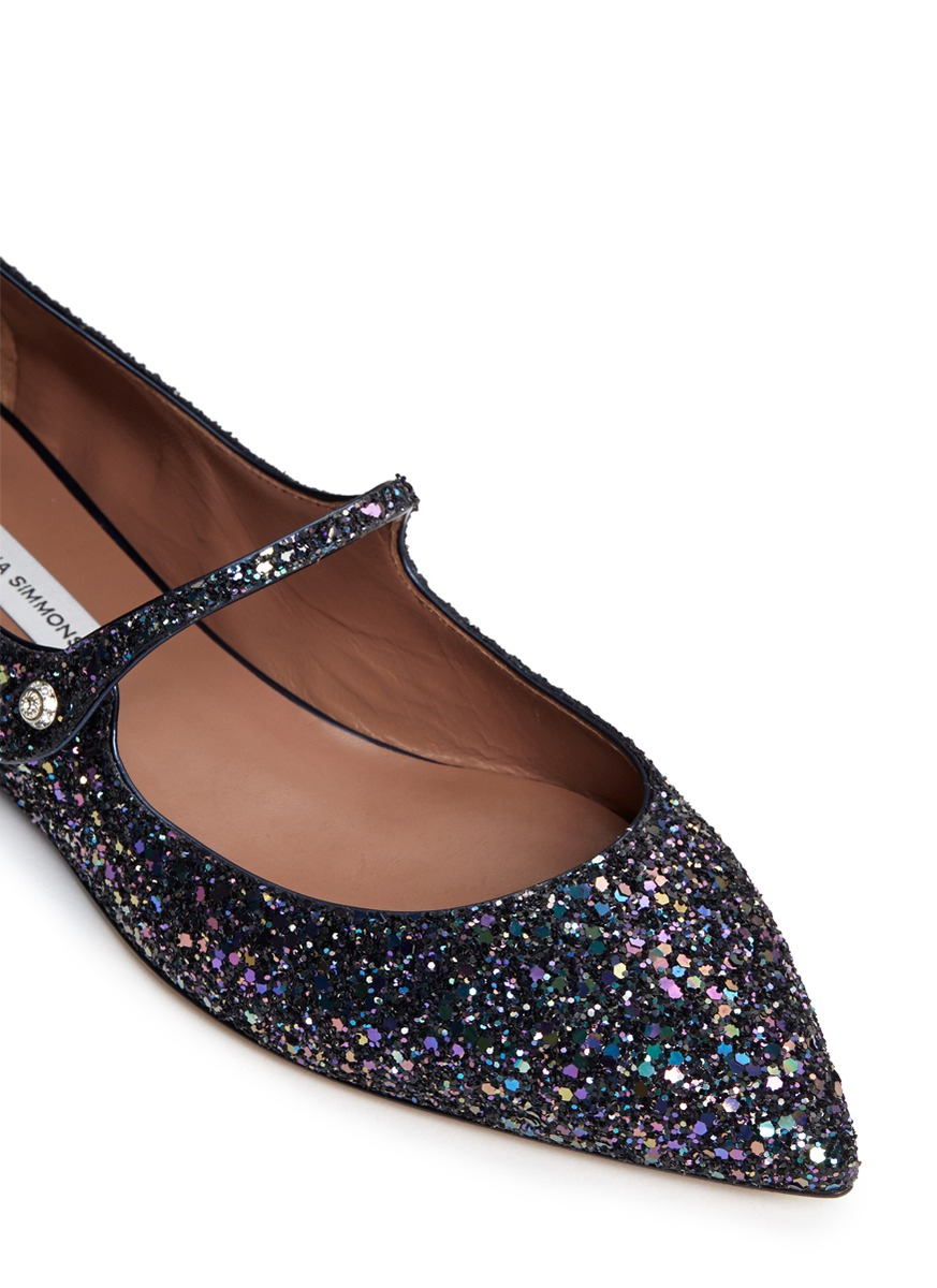 Lyst - Tabitha Simmons Hermione Iridescent Glitter Mary Jane Flats