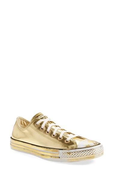 converse chuck taylor metallic gold