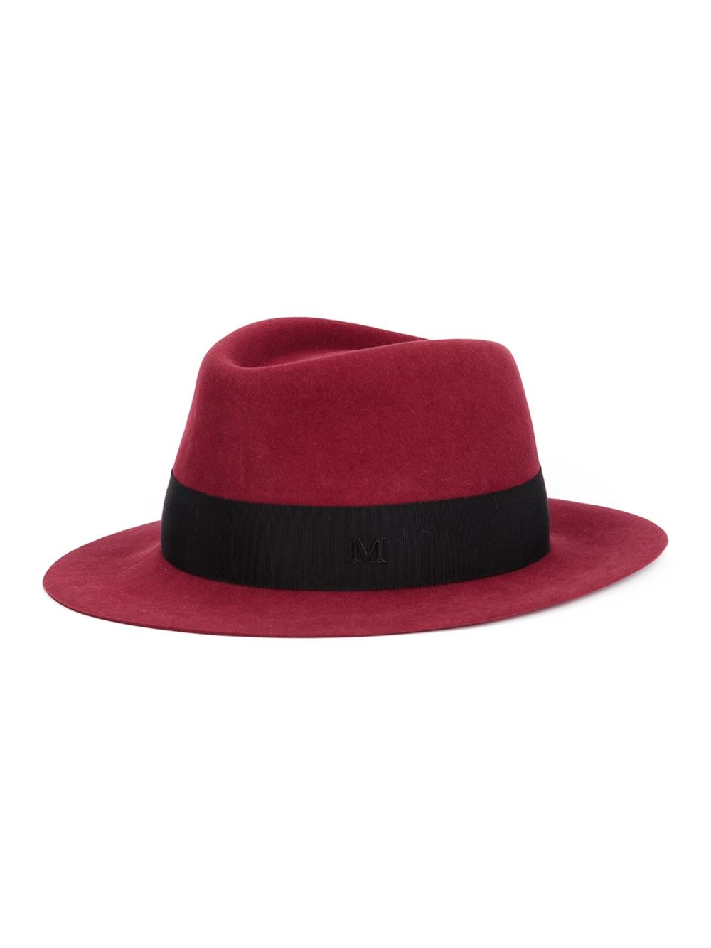Maison michel 39 andre 39 fedora in red lyst for Maison michel