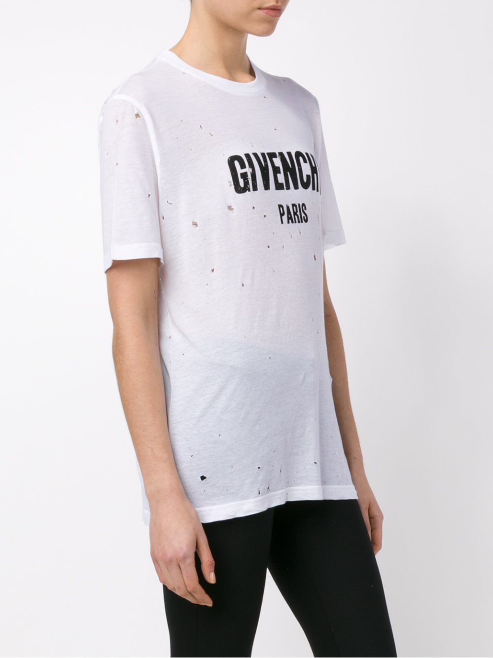 Givenchy White T-shirt with hole