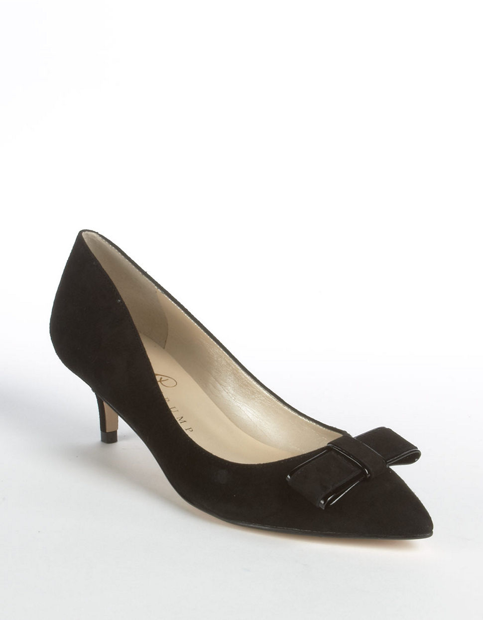 Ivanka Trump Walker Suede Kitten Heel Pumps in Black | Lyst
