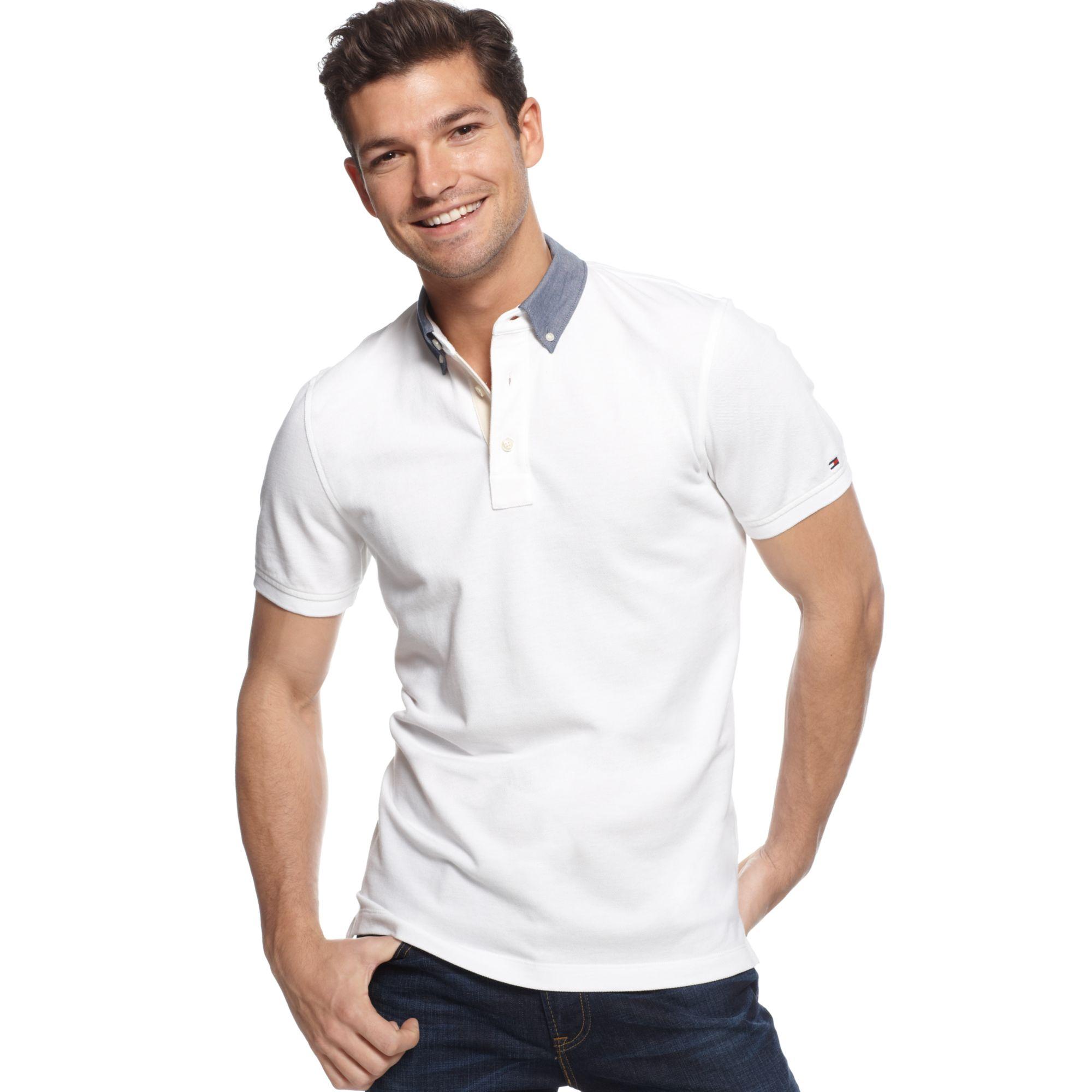b22da31b9a27bc Lyst - Tommy Hilfiger Dexter Polo Shirt in White for Men