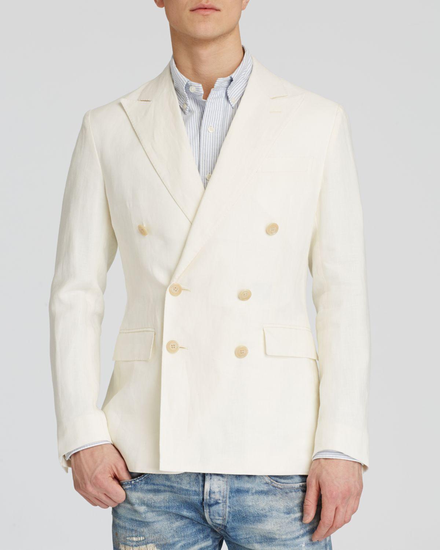 2a4e316a Polo Ralph Lauren Double-breasted Linen-cotton Sport Coat - Regular ...