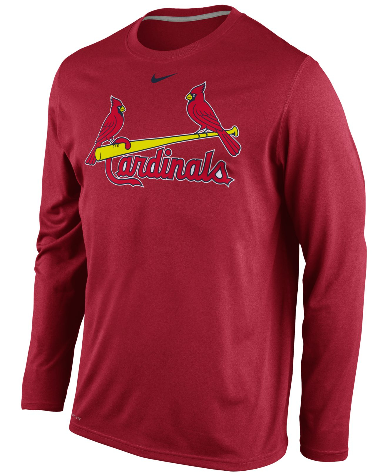 Nike men 39 s long sleeve st louis cardinals legend t shirt for St louis t shirt printing