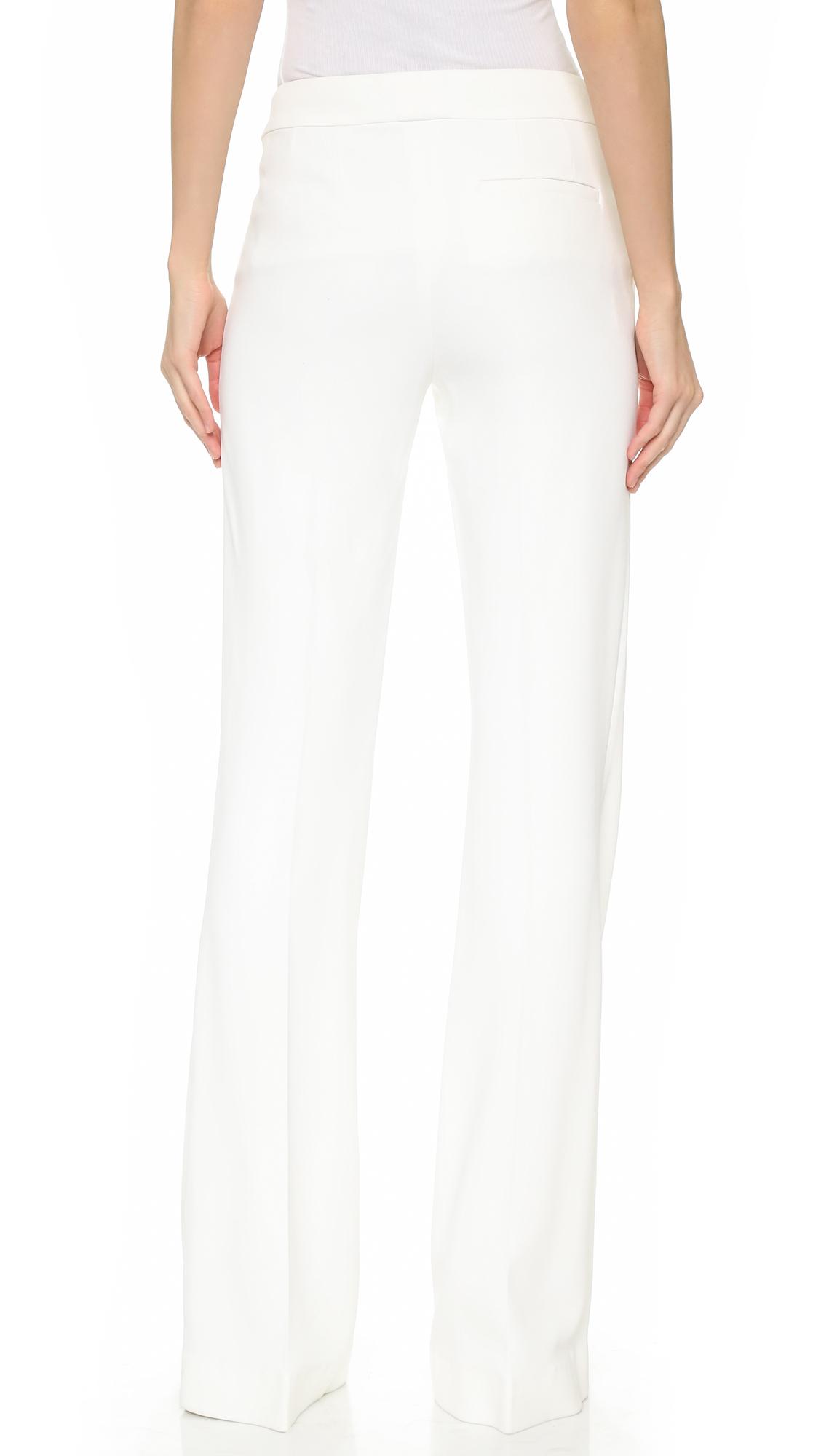 Giamba Wide Leg Pants - Ivory in White | Lyst