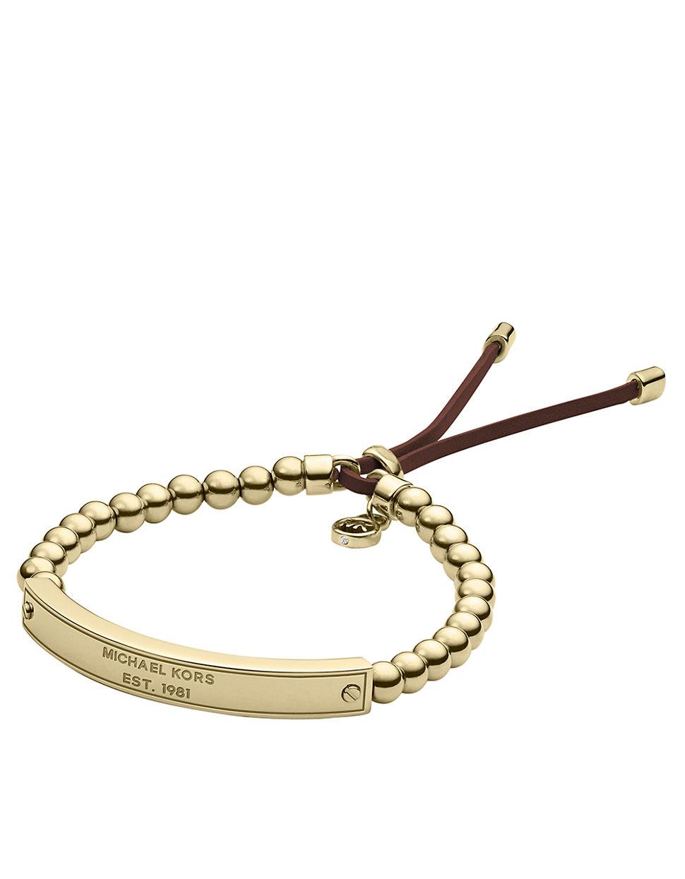 michael kors bracelet in metallic lyst
