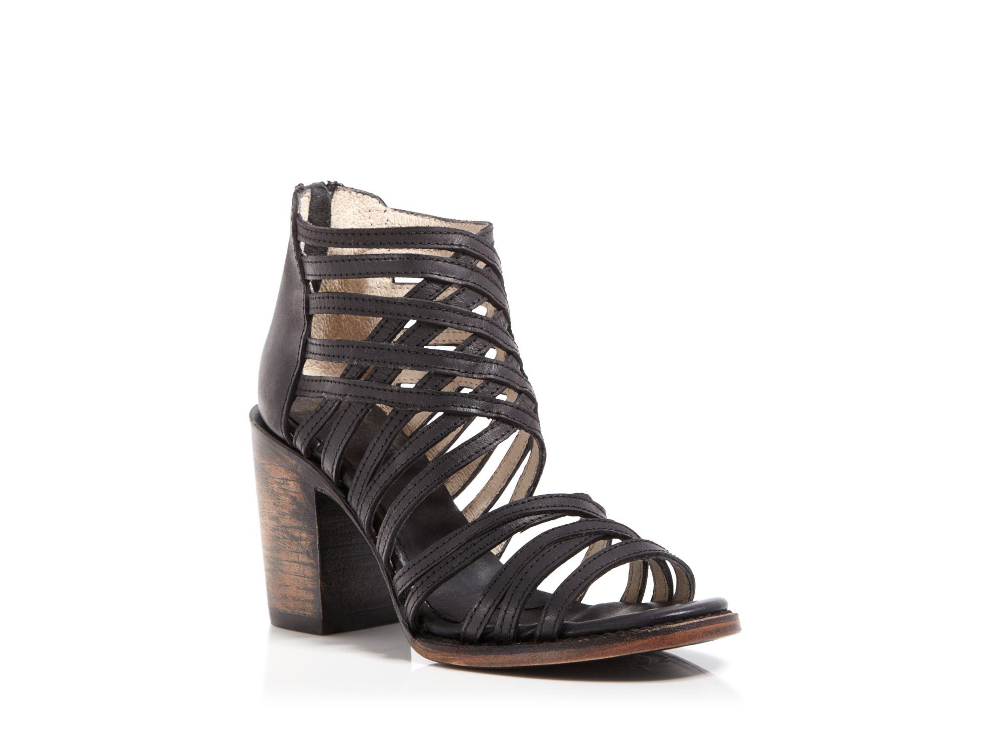 Strappy Sandals Mid Heel