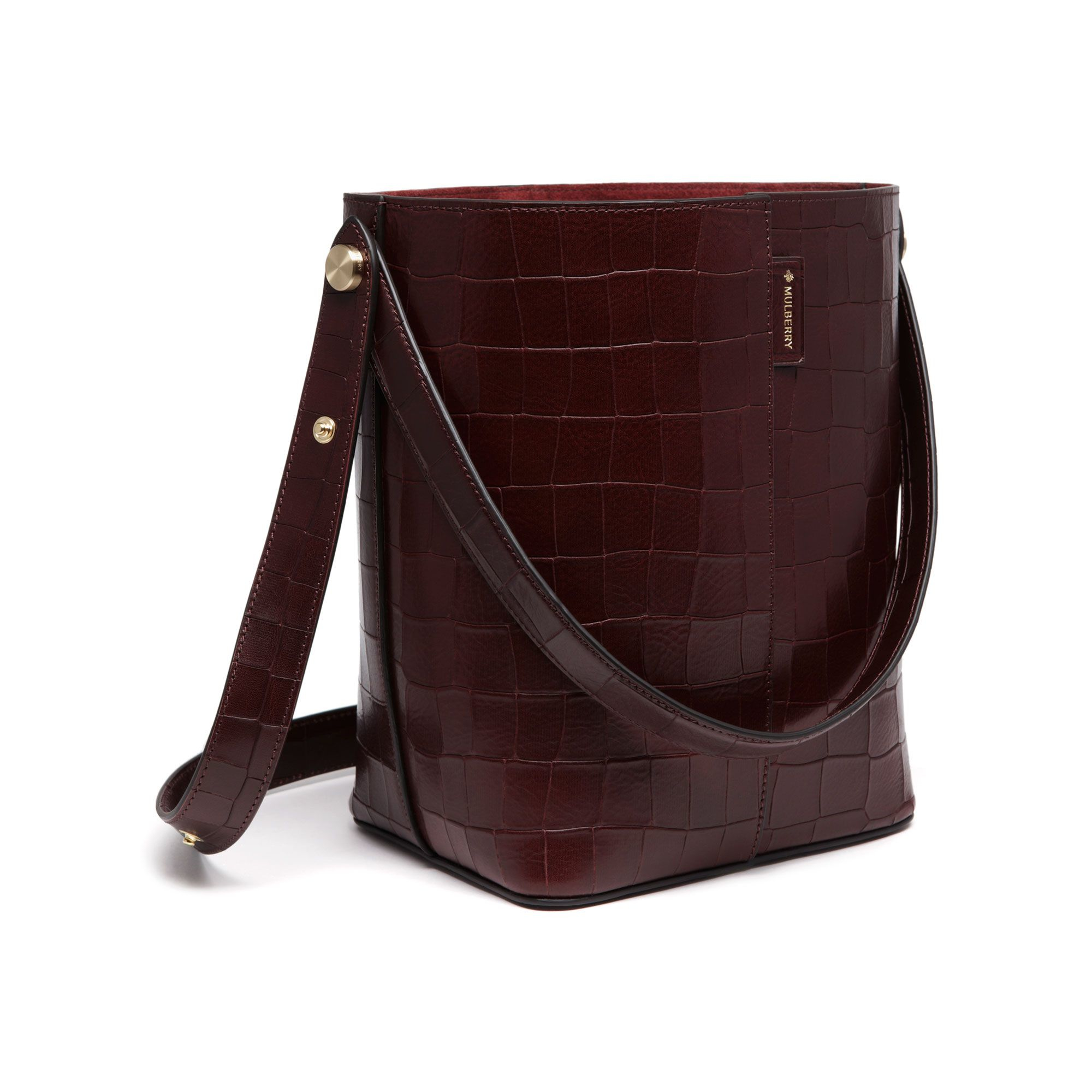 35b11e2d56 Canada Mulberry Bayswater Tote Oxblood 652d9 B8871. Lyst Mulberry Bayswater  Crocodile Embossed ...