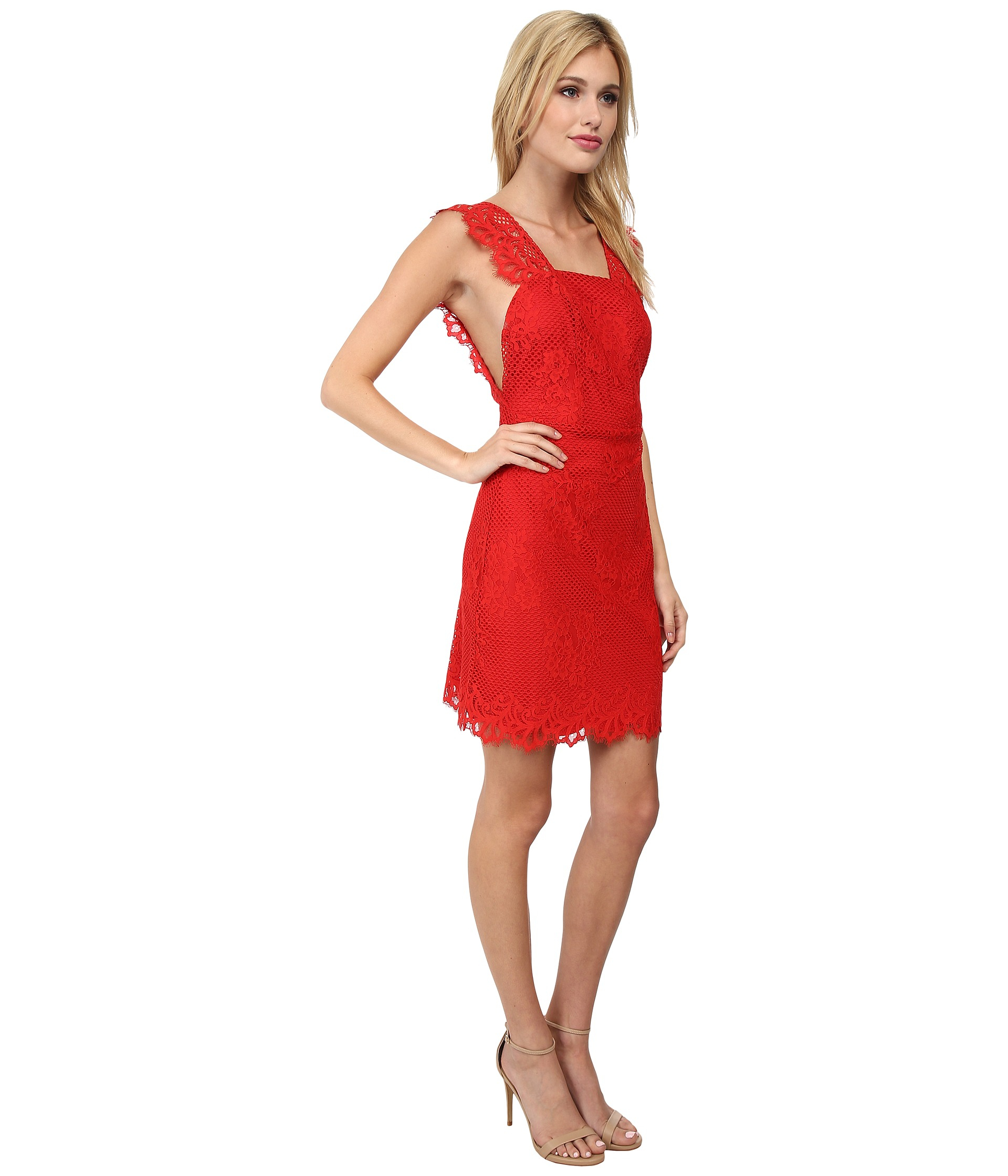 b5a94ec2a2 For Love   Lemons Tiki Bar Cocktail Dress in Red - Lyst