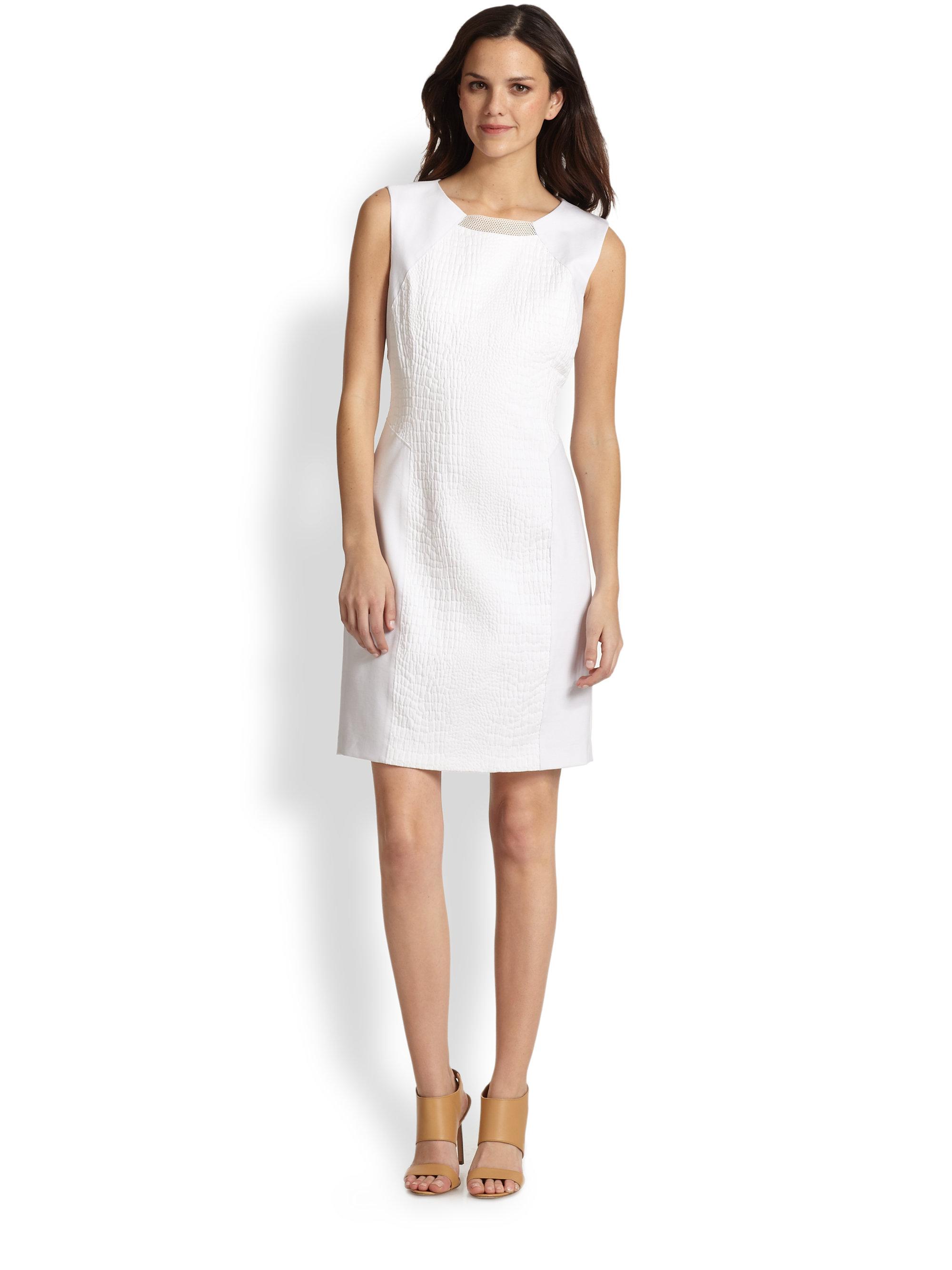 60206fab57 Lyst - Elie Tahari Gramercy Dress in White