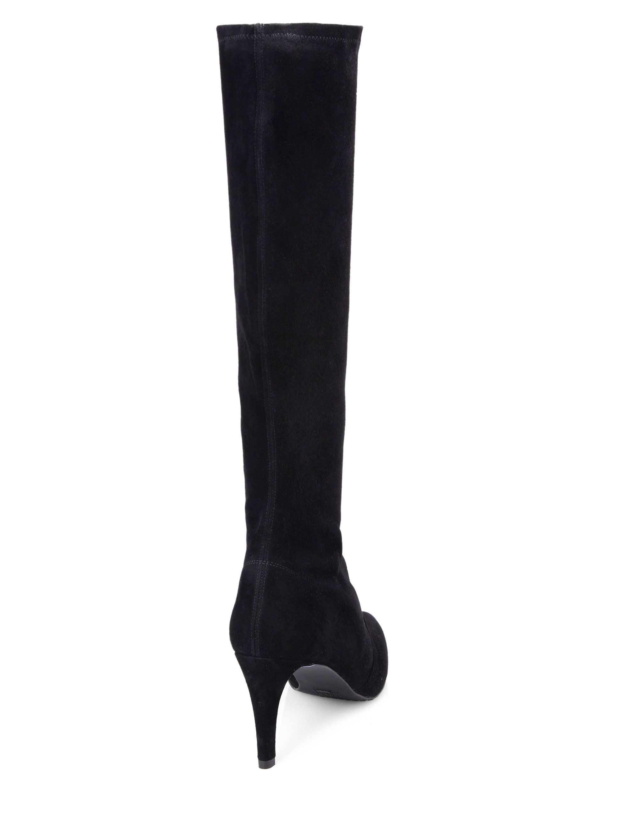 39d3e19bdded Lyst - Stuart Weitzman Coolboot Suede Knee-High Boots in Black
