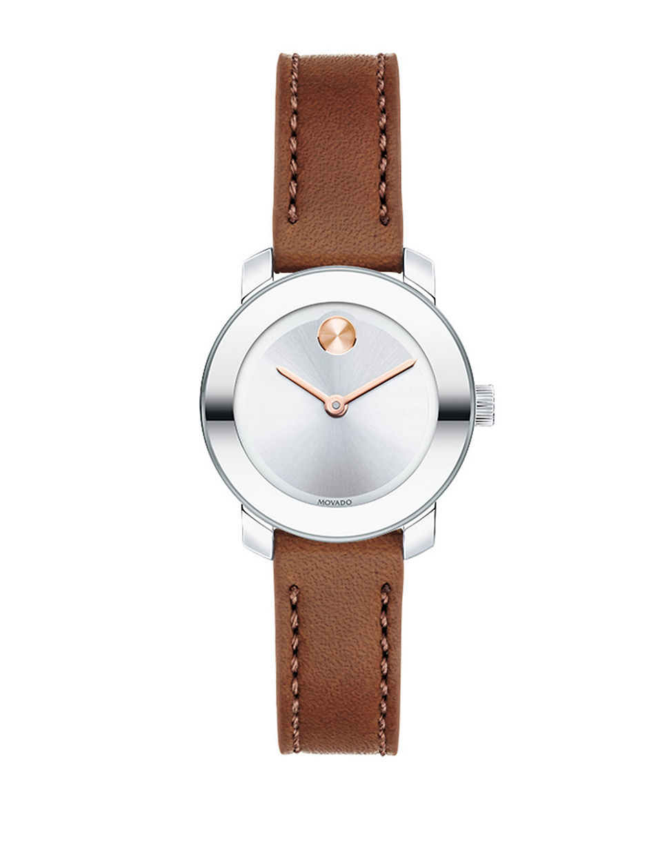 Lyst Movado Bold Bold Stainless Steel And Leather Strap
