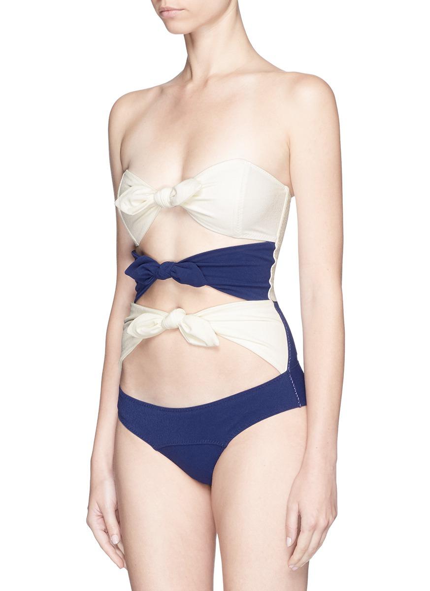 56898f332c293 Gallery. Previously sold at  Lane Crawford · Women s Lisa Marie Fernandez  Leandra Women s Print Bikinis ...