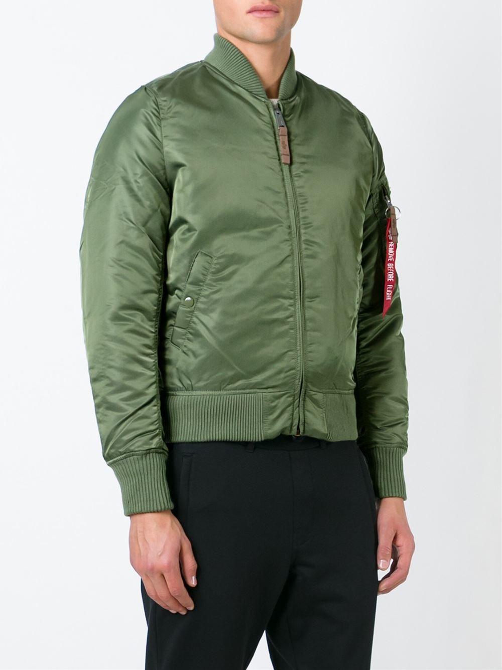 alpha industries 39 ma 1 39 flight jacket in green for men lyst. Black Bedroom Furniture Sets. Home Design Ideas