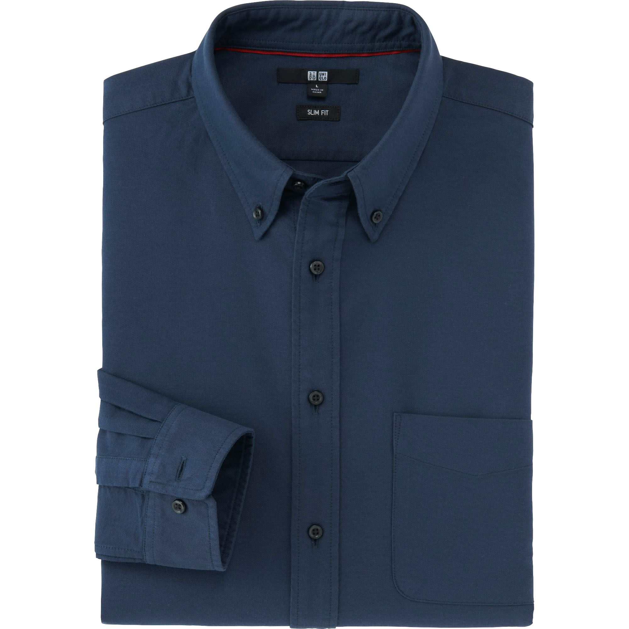 Uniqlo Men Oxford Slim Fit Long Sleeve Shirt In Blue For