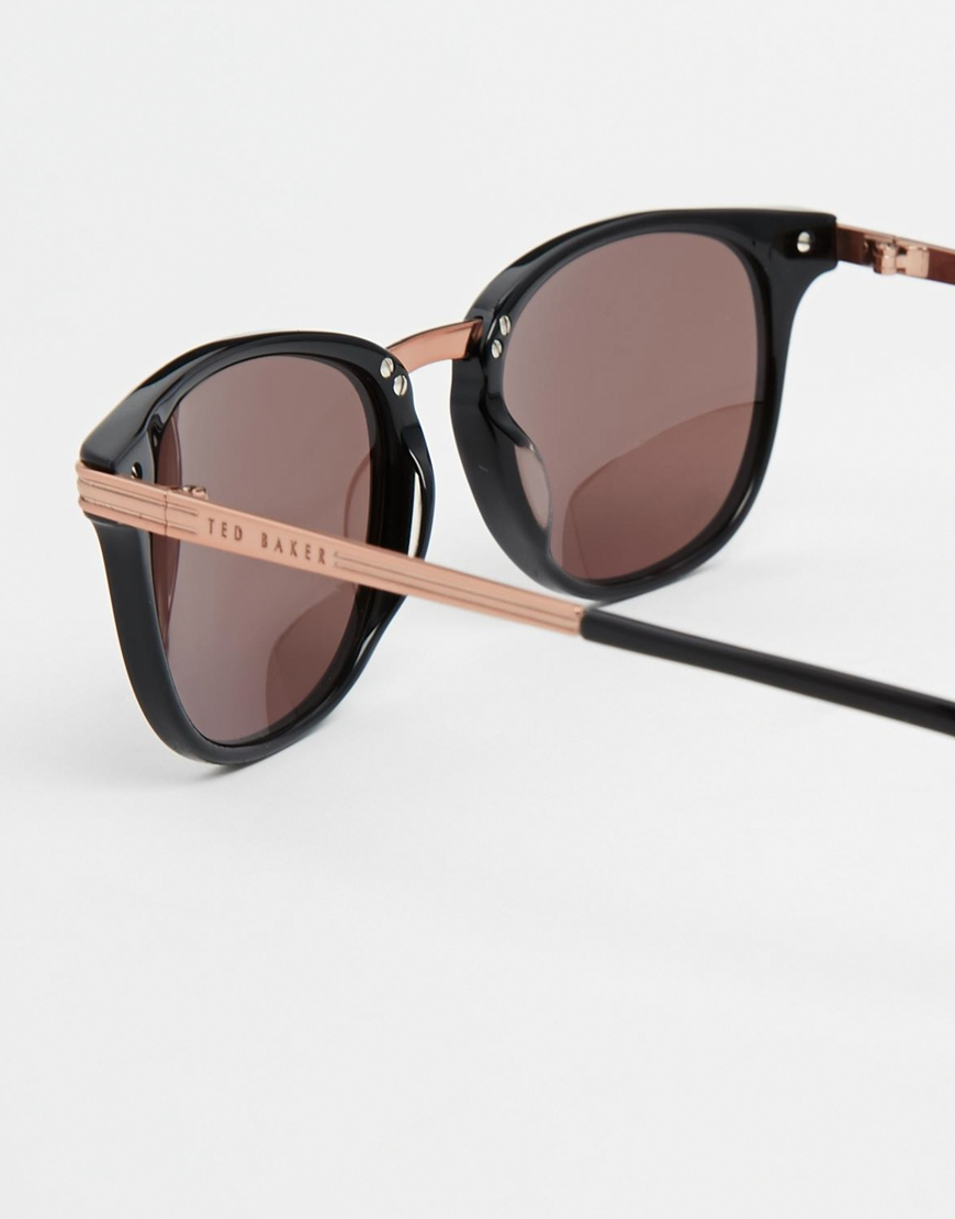 Lyst Ted Baker Vella Retro Sunglasses In Black
