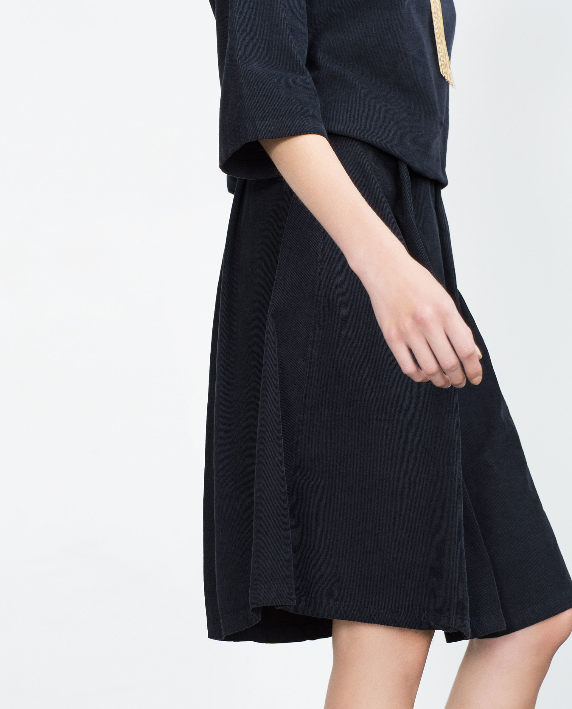 Blue Corduroy Skirt 11
