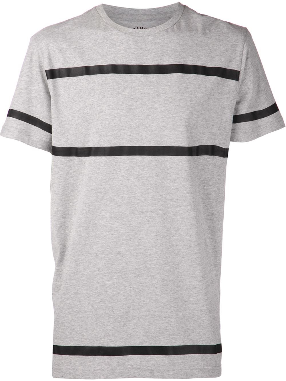 Lyst stampd striped t shirt in gray for men for Grey striped t shirt