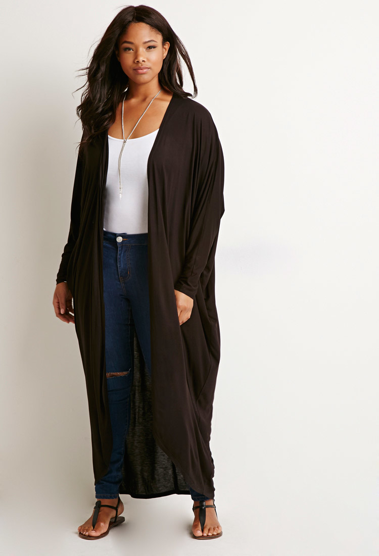 Cozy up with one of our comfy plus size sweaters or cardigans. We carry casual and formal cardigans for many occasions in the latest styles. Our crochet sweater is great for a summer night cover up.