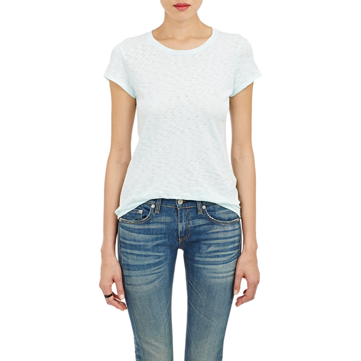 Rag bone slub jersey t shirt in white lyst for Rag and bone t shirts