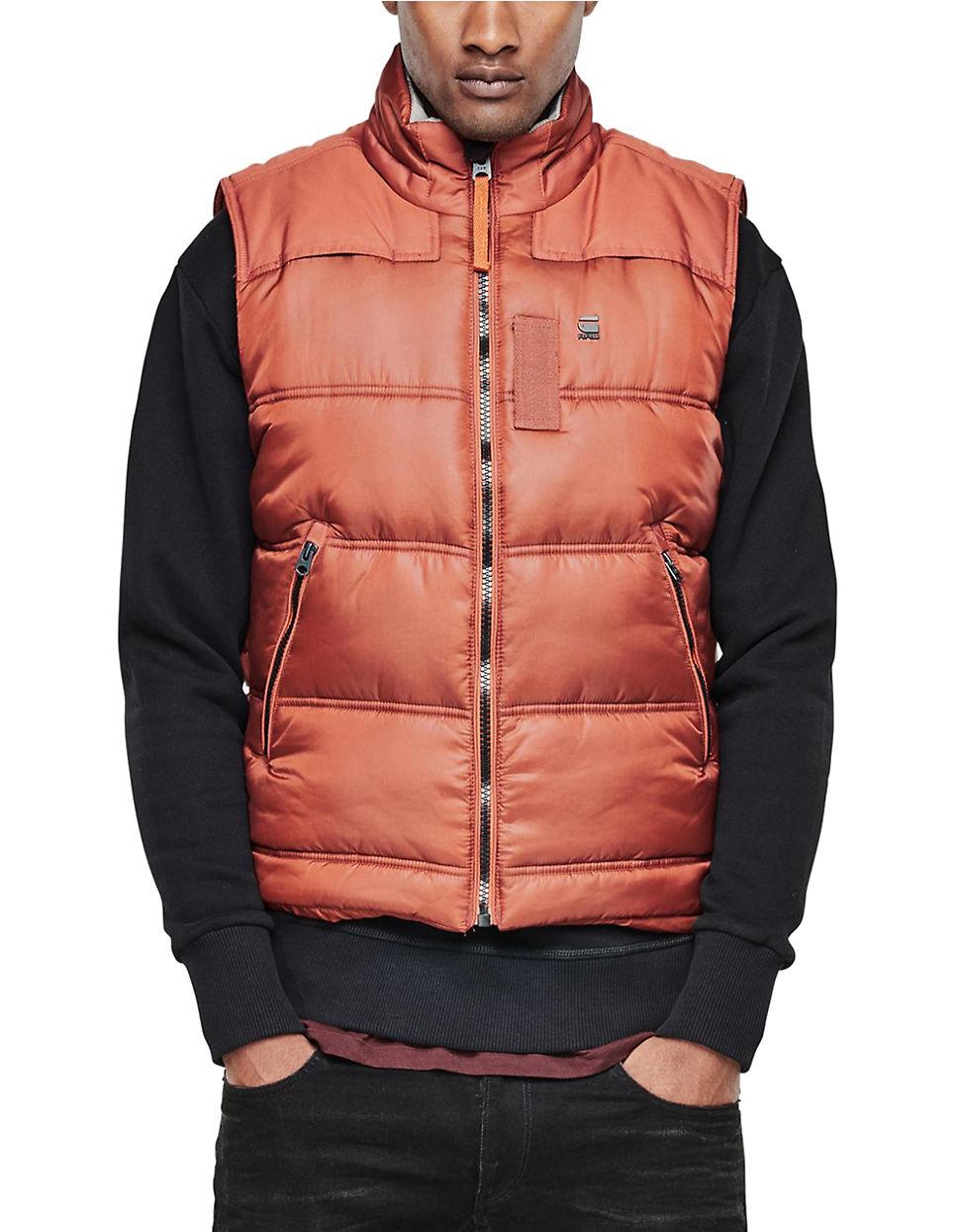 g star raw whistler quilted waterproof vest in pink for men lyst. Black Bedroom Furniture Sets. Home Design Ideas