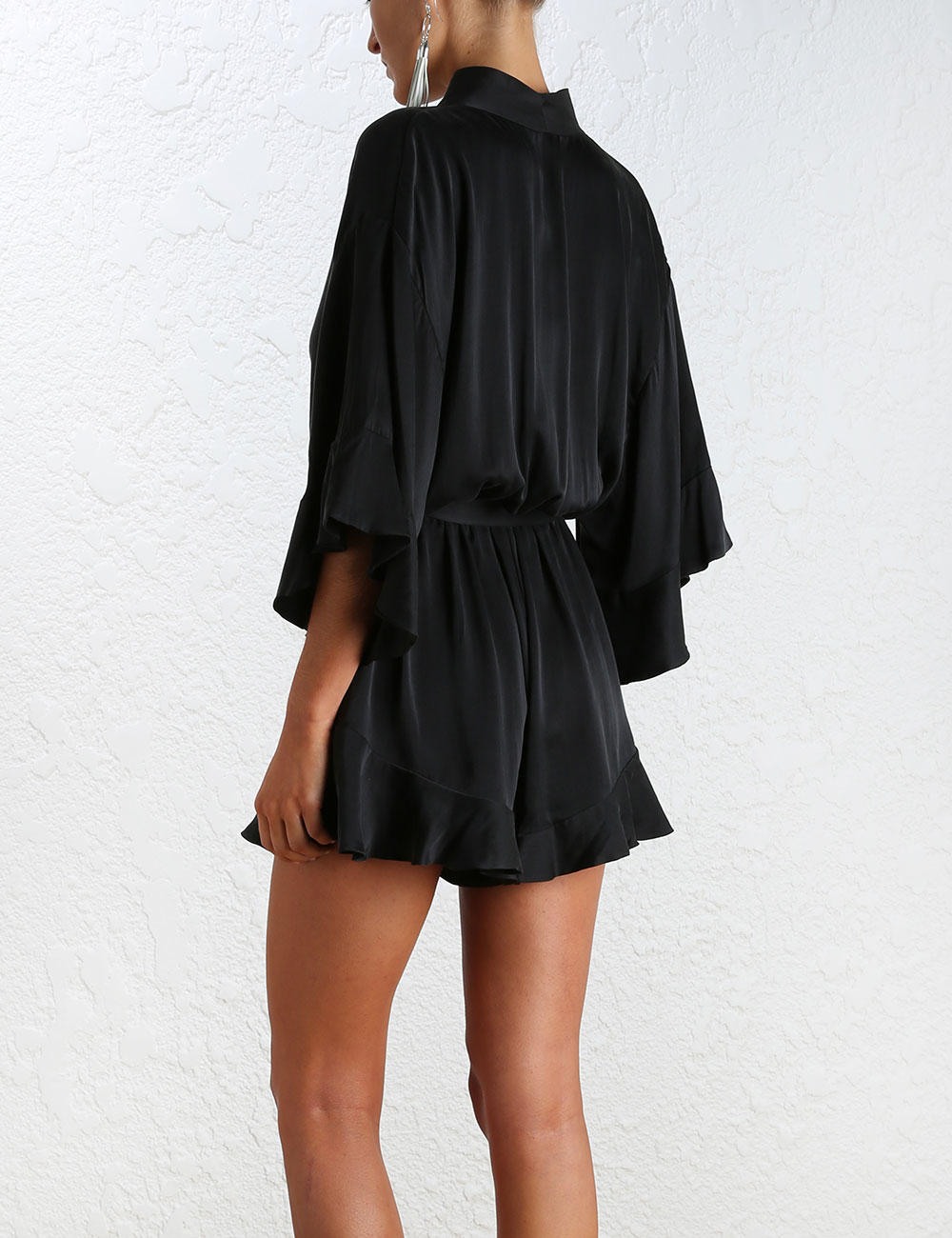 847f8a63aa3 Lyst - Zimmermann Empire Sueded Playsuit in Black