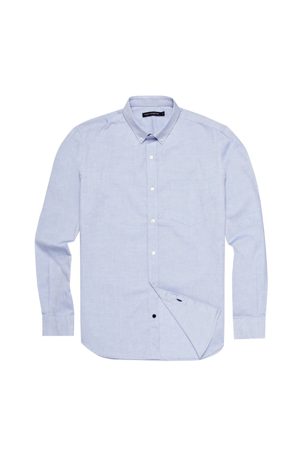 French connection colourful oxford shirt in blue for men for French blue oxford shirt