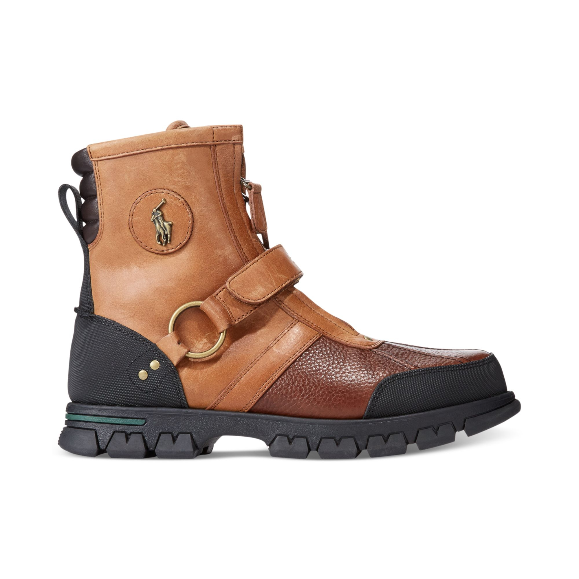polo ralph lauren conquest iii high boots in brown for men briarwood brown lyst. Black Bedroom Furniture Sets. Home Design Ideas