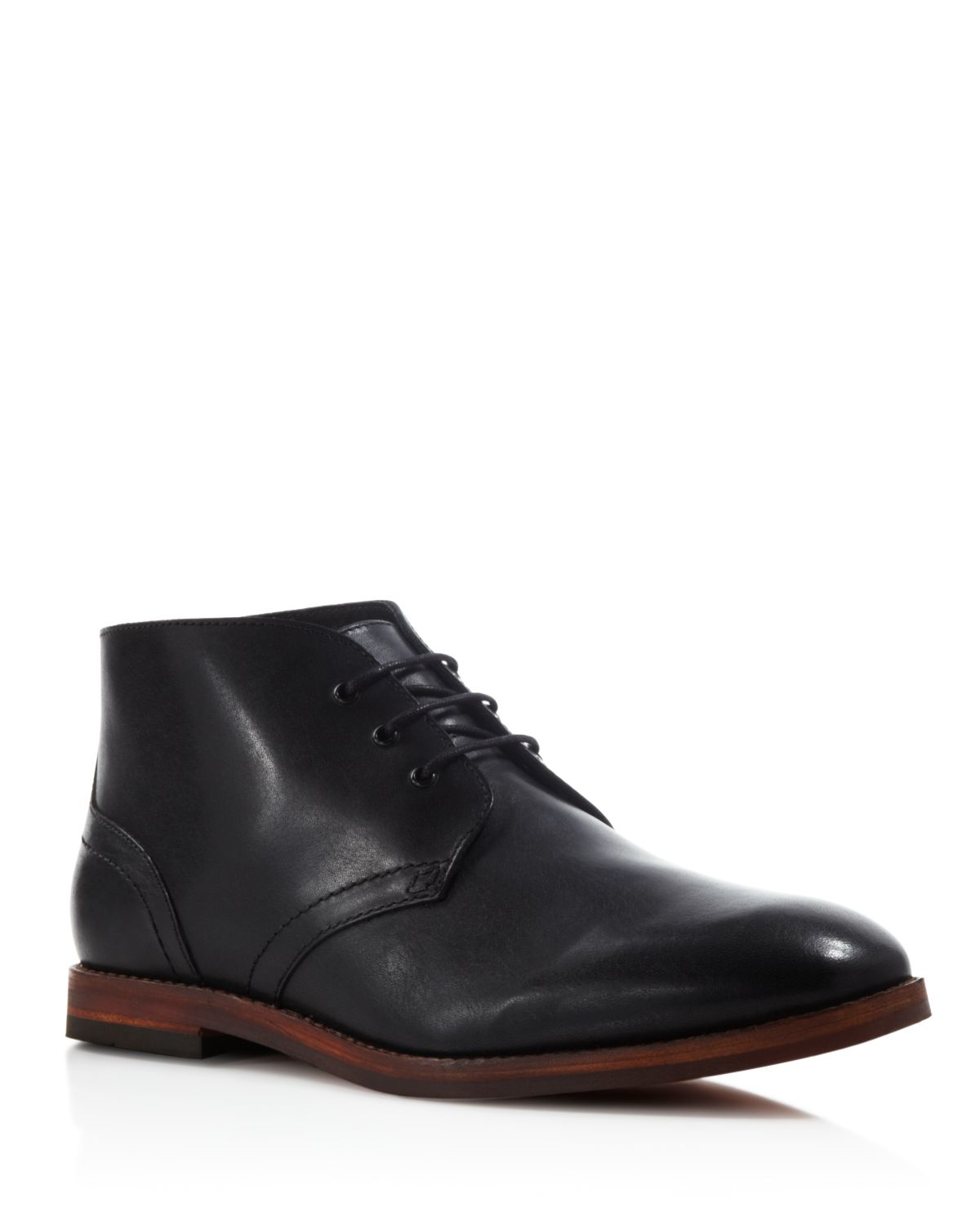 h by hudson houghton chukka boots in black for men lyst. Black Bedroom Furniture Sets. Home Design Ideas