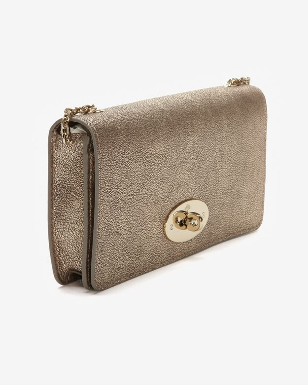 84e78f1251 ... shop lyst mulberry bayswater metallic mushroom goat wallet clutch in  brown fc825 5e149