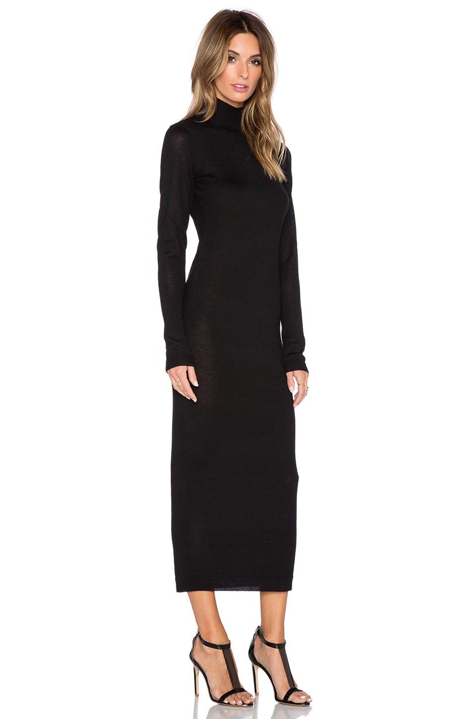 Black Long Sleeve Sweater Dress