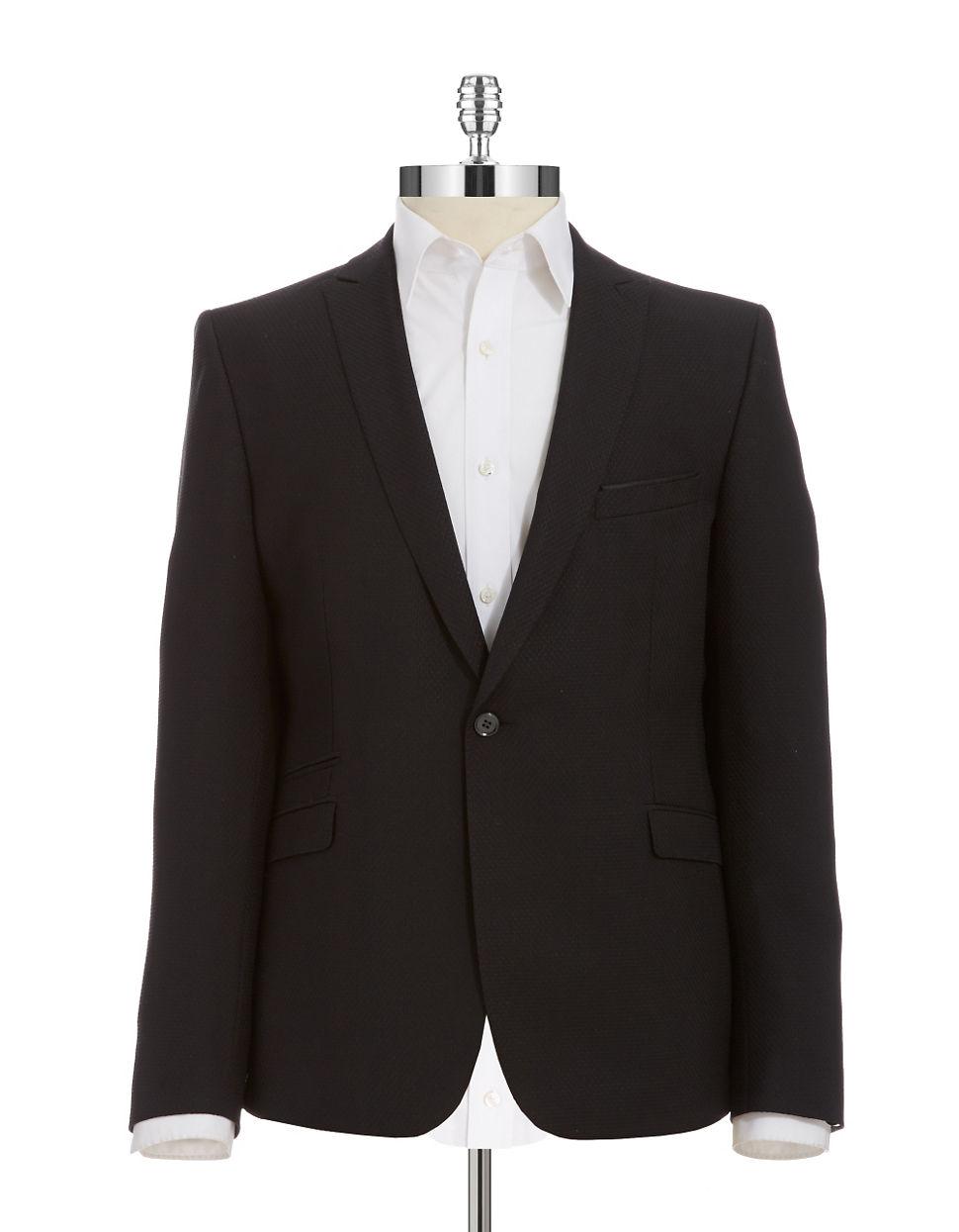 strellson cisco slim fit blazer in black for men lyst. Black Bedroom Furniture Sets. Home Design Ideas