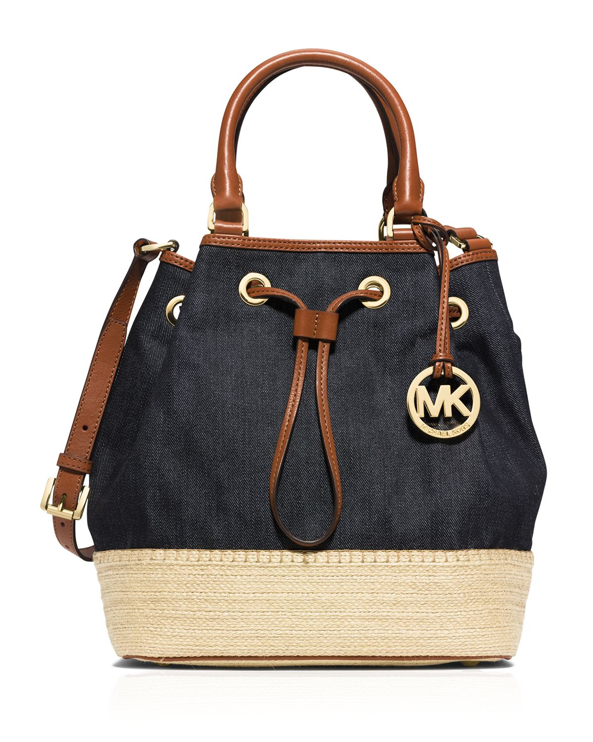 6fc7563ef481 MICHAEL Michael Kors Shoulder Bag - Large Marina Denim Espadrille in ...