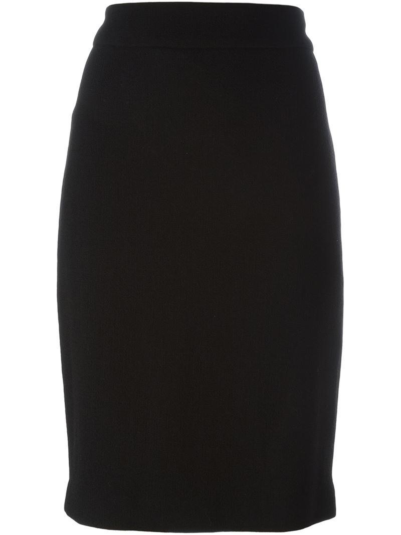 pencil classic Black skirt