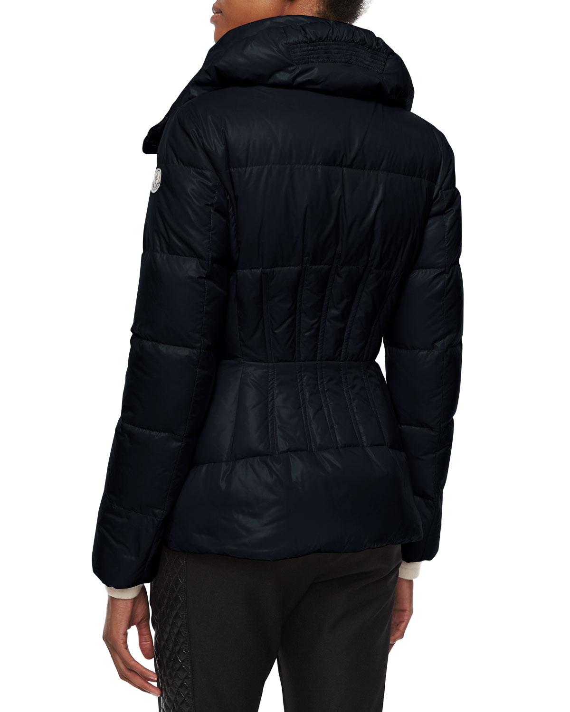 e78d52eea Moncler Blue Joux High-neck Puffer Jacket