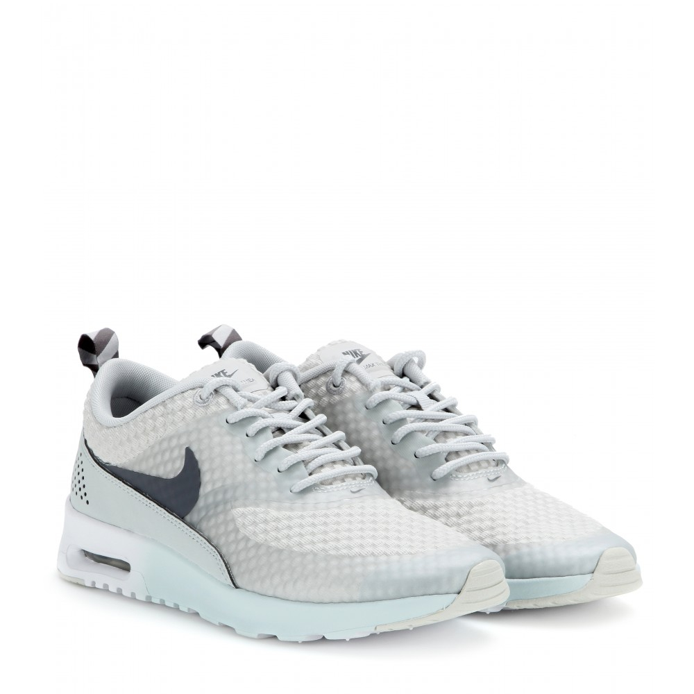 nike air max thea premium sneakers in gray lyst. Black Bedroom Furniture Sets. Home Design Ideas