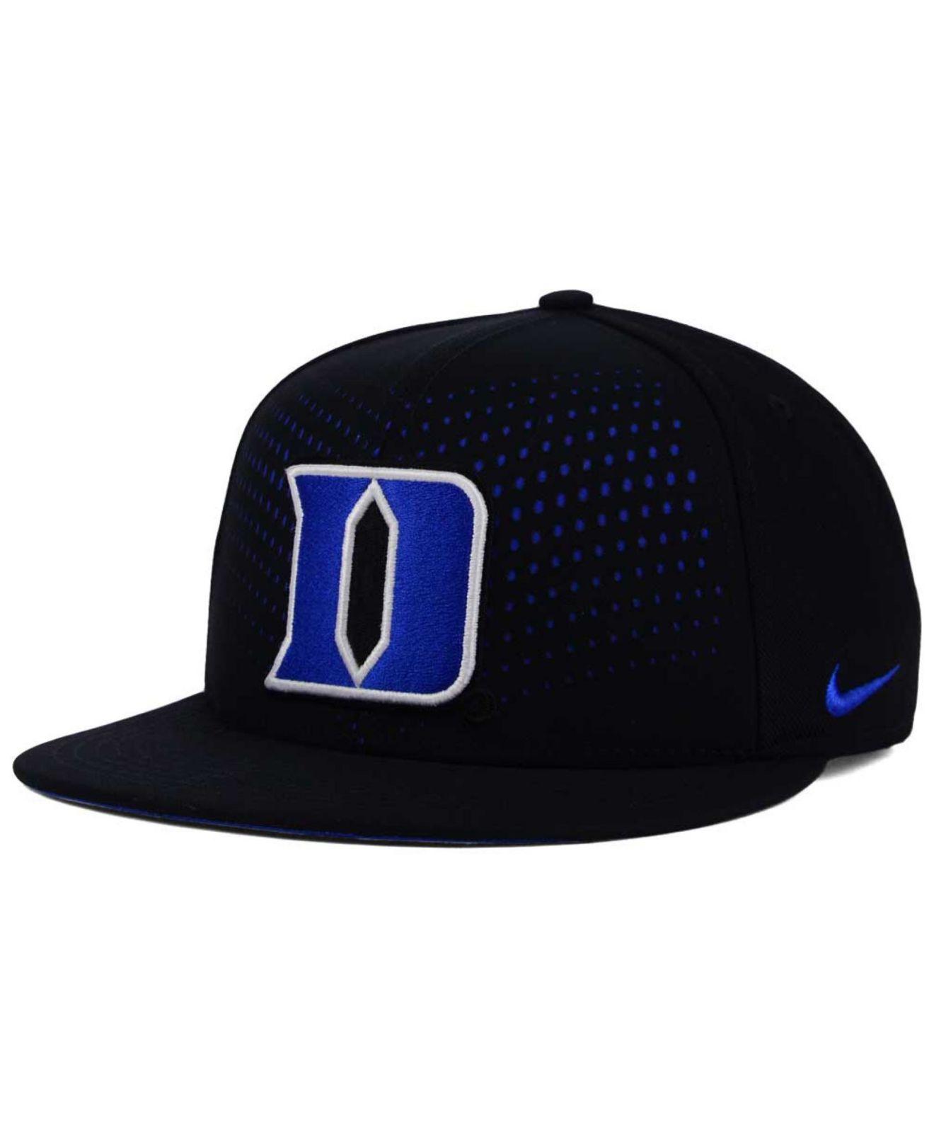 pretty nice f5e1d e601d Nike Duke Blue Devils True Seasonal Snapback Cap in Black for Men - Lyst