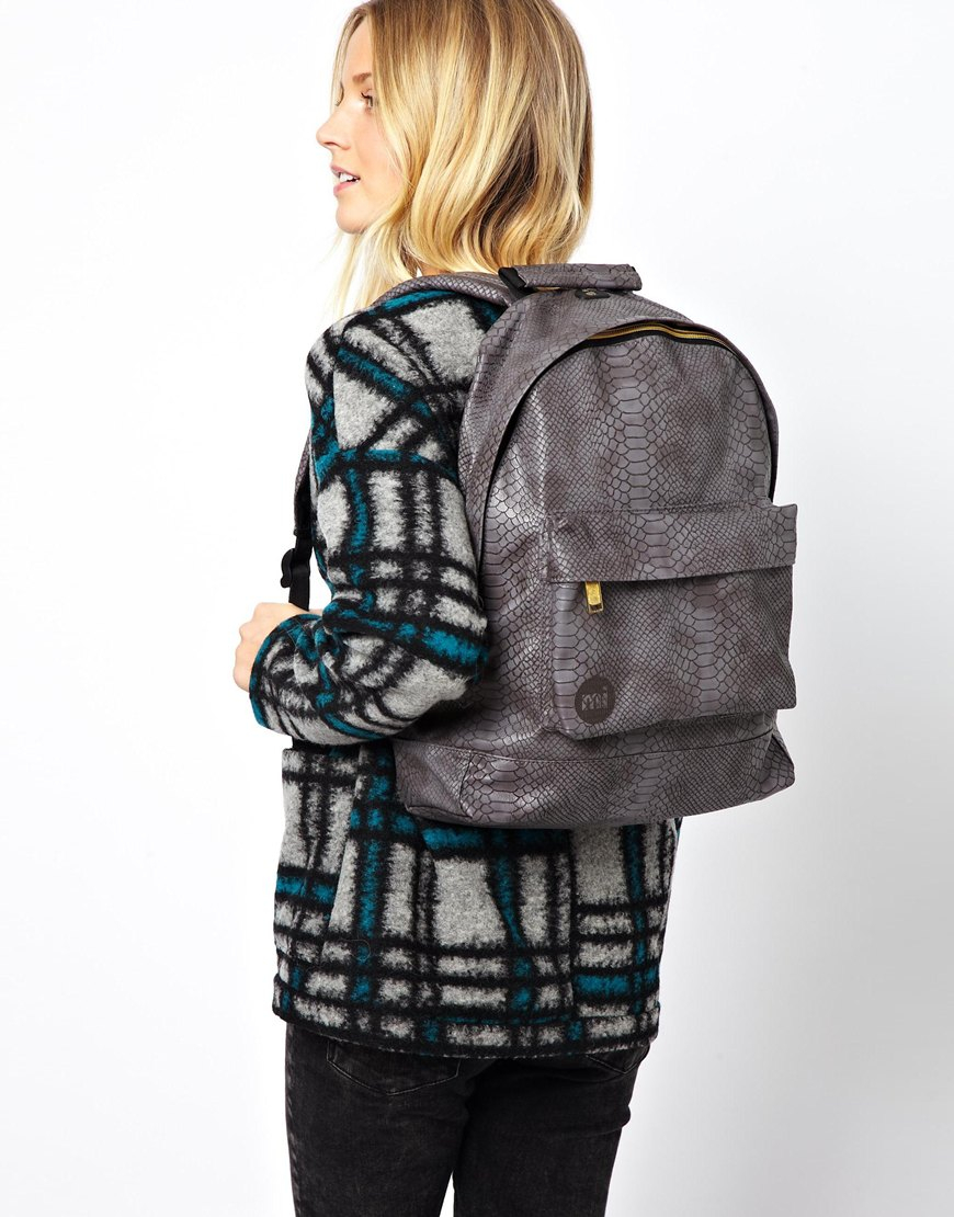 Backpack In Faux Python Print