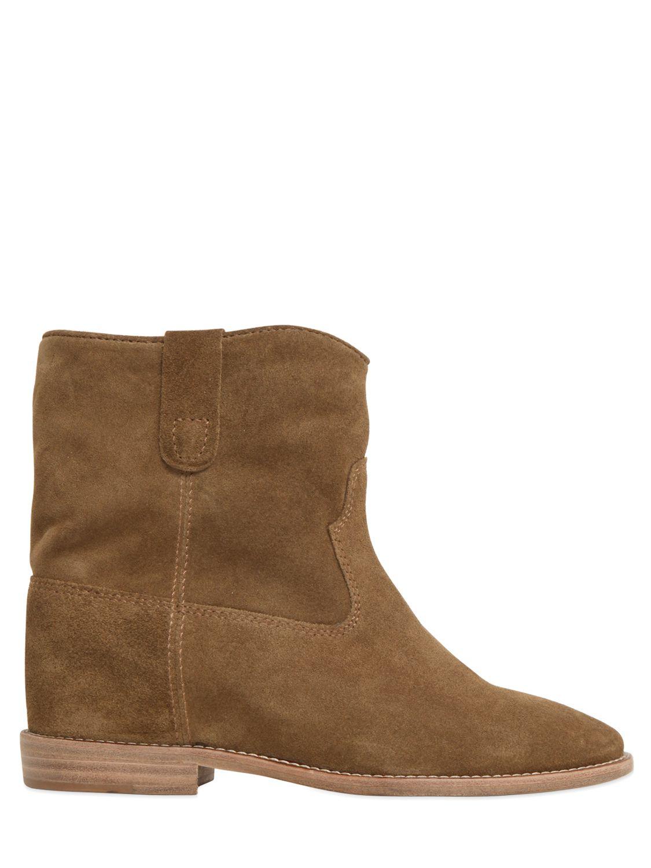isabel marant crisi suede ankle boots in brown save 38 lyst. Black Bedroom Furniture Sets. Home Design Ideas