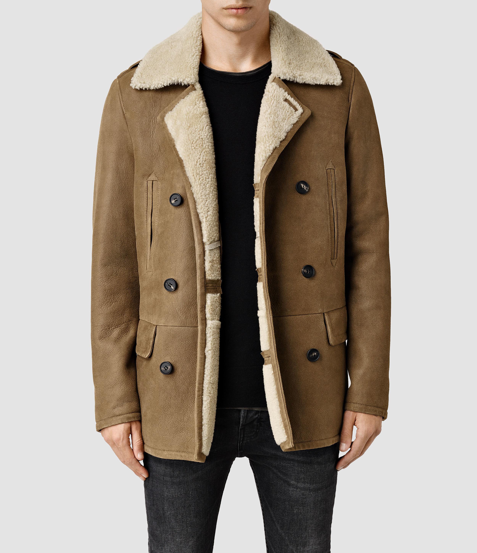 Pea coat leather jacket