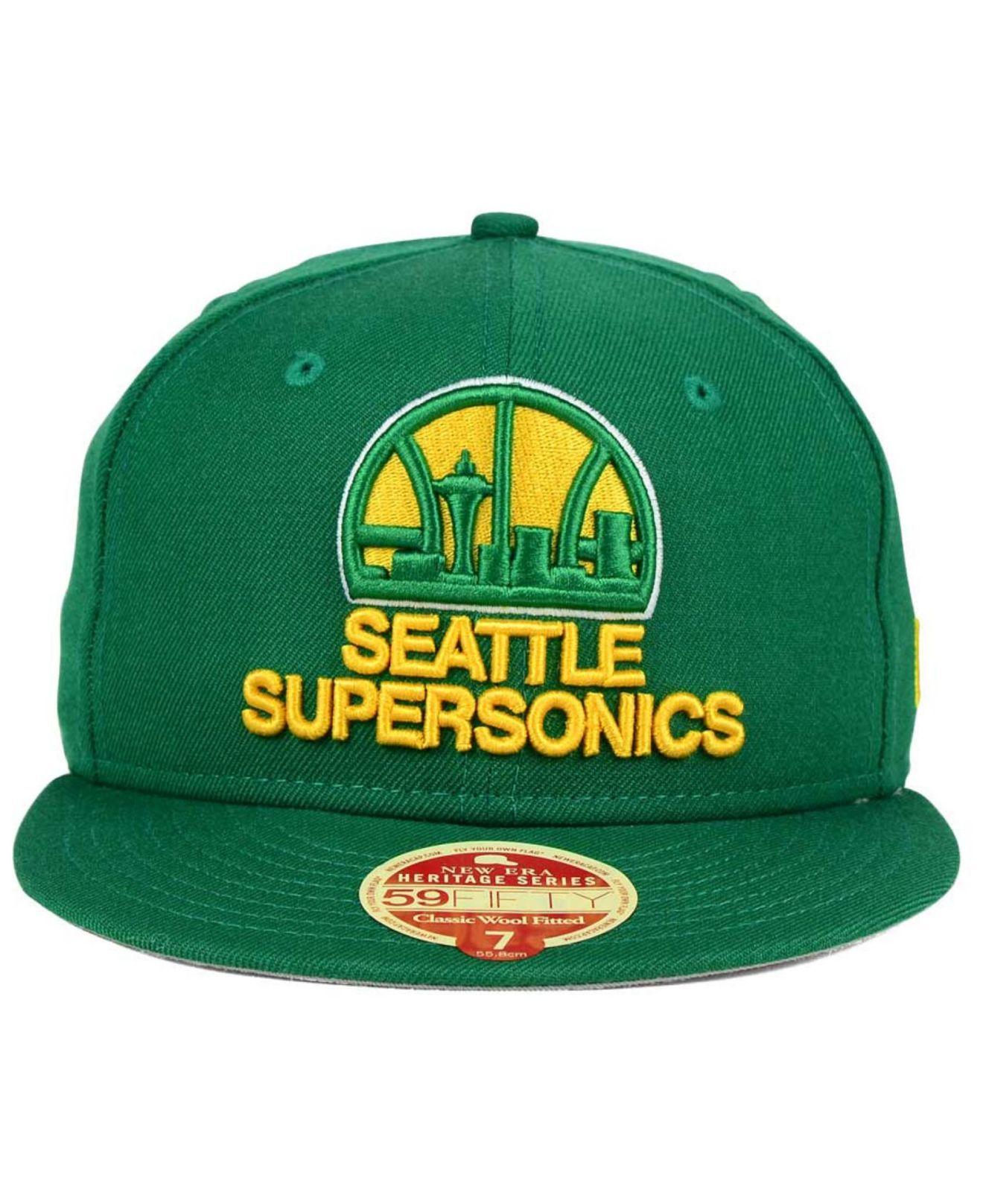 Lyst - Ktz Seattle Supersonics Classic Wool 59fifty Cap in Green for Men 8f3f13cc054e