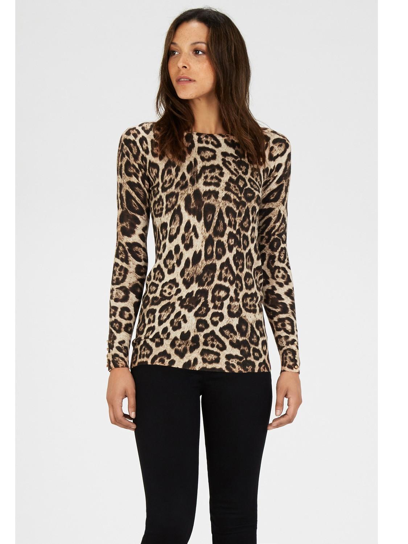 4ee7b253eccc Warehouse Leopard Print Jumper - Lyst