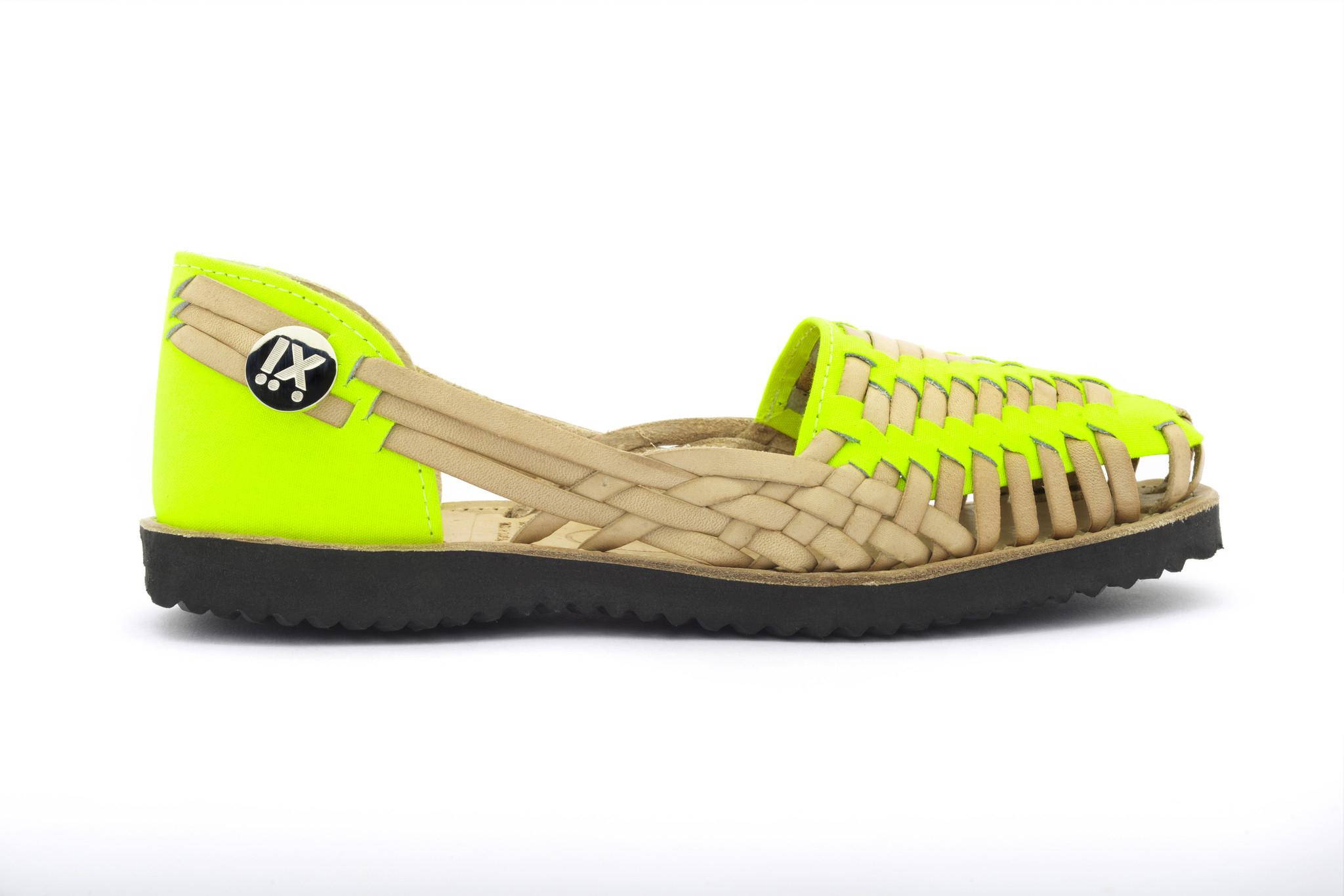 Ix Style Women'S Neon Yellow Woven Leather Huarache Sandal ...