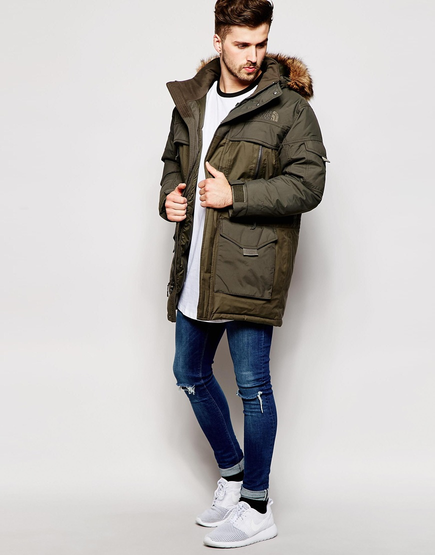 lyst the north face mcmurdo 2 down parka in green for men. Black Bedroom Furniture Sets. Home Design Ideas