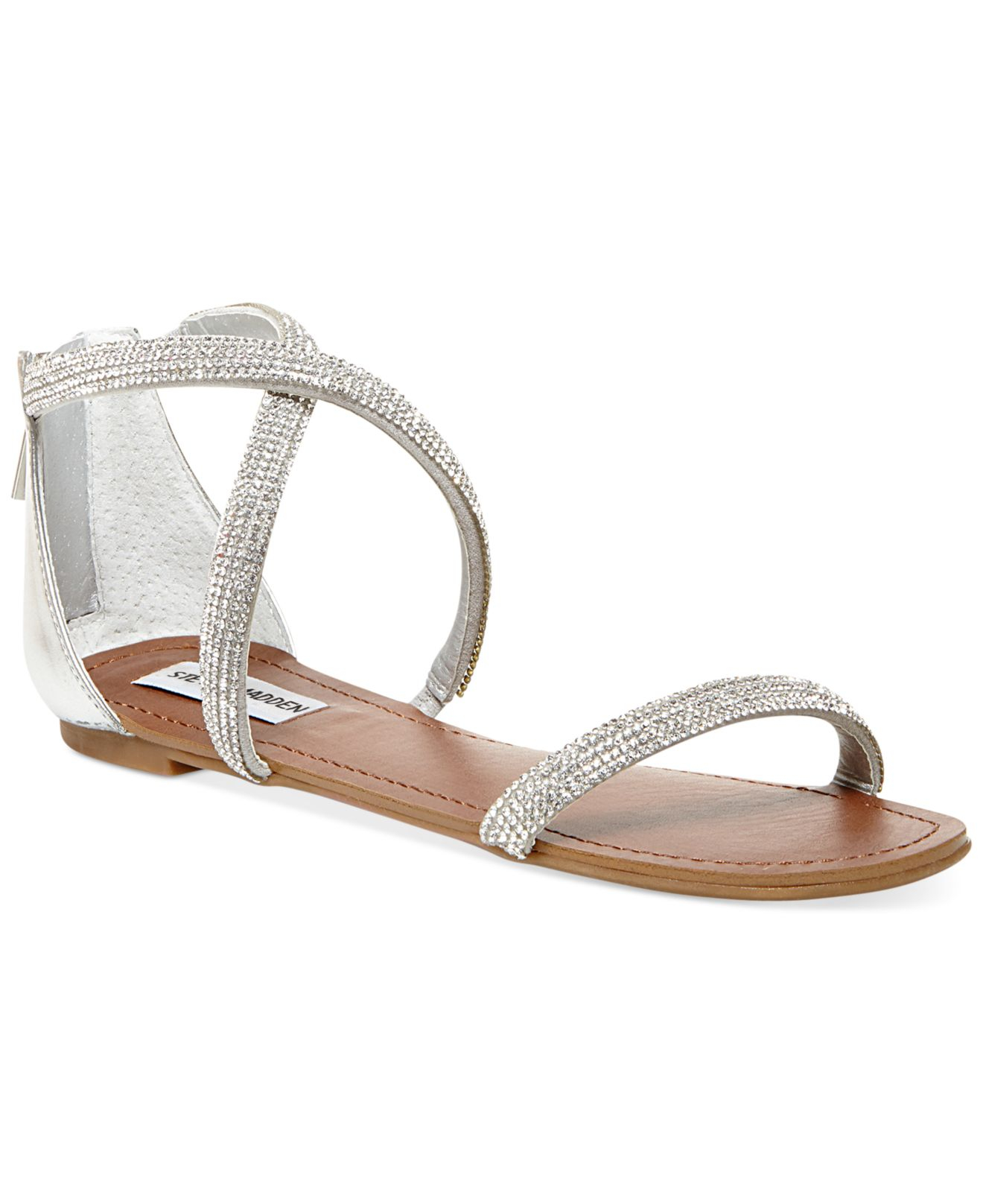 Steve Madden Zsaza Bling Flat Sandals