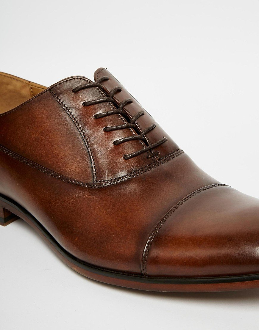 Lyst Aldo Maric Leather Shoes In Brown For Men
